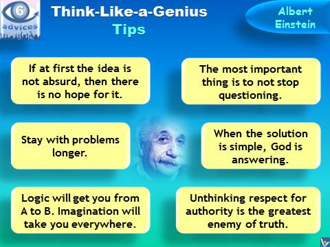 Think Like a Genius: 6 Tips by Albert Einstein