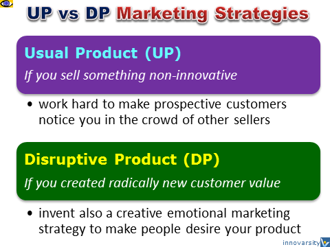 Marketing Strategies read vs blue ocean, disruptive products