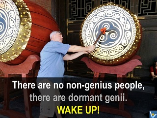 Genius quotes wake up dormant genii, Vadim Kotelnikov, photogram