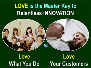 Best Value Innovation quotes, innovation is love, passion for customers, Vadim Kotelnikov photogram